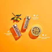 Advanced Ceramide for daily  youth restoring ceramides, Retinol for nighttime line-smoothing, and Vitamin C for brightening.