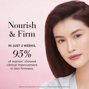 In just 2 weeks, 95% of women showed clinical improvement in skin firmness based on self-assessments of 44 women in a US clinical study after 12 weeks of use.