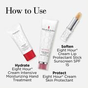 Includes: Eight Hour Cream Intensive Moisturizing Hand Treatment, Eight Hour Cream Skin Protectant, Eight Hour Lip protectant SPF15
