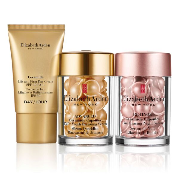 Ceramide + Retinol Capsules 3 Piece Set (worth £98), , large