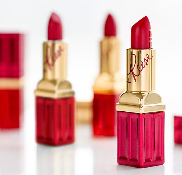 March on with our limited edition red lipstick