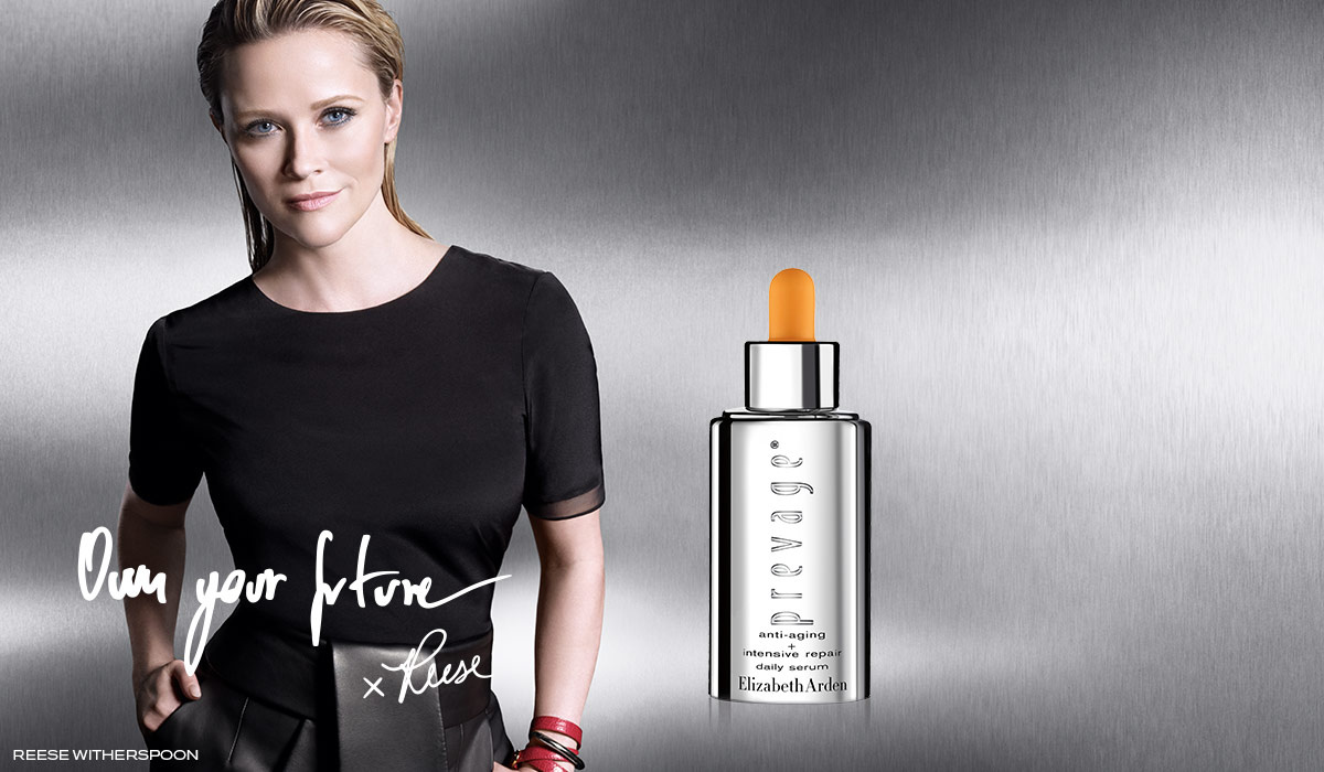 Reese Witherspoon with Prevage Anti-Aging Serum