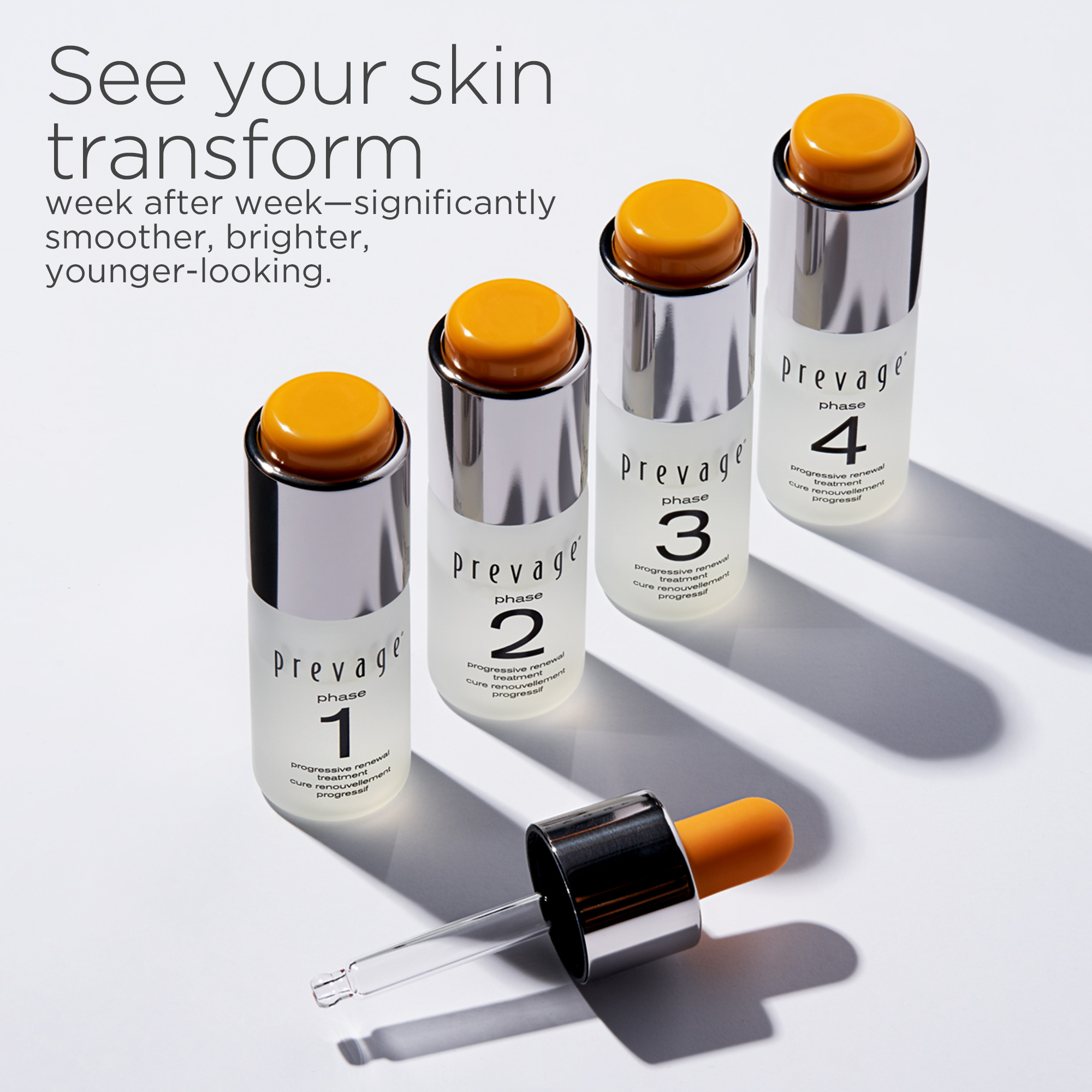 See your skin transform week after week-significantly smoother, brighter, younger-looking.