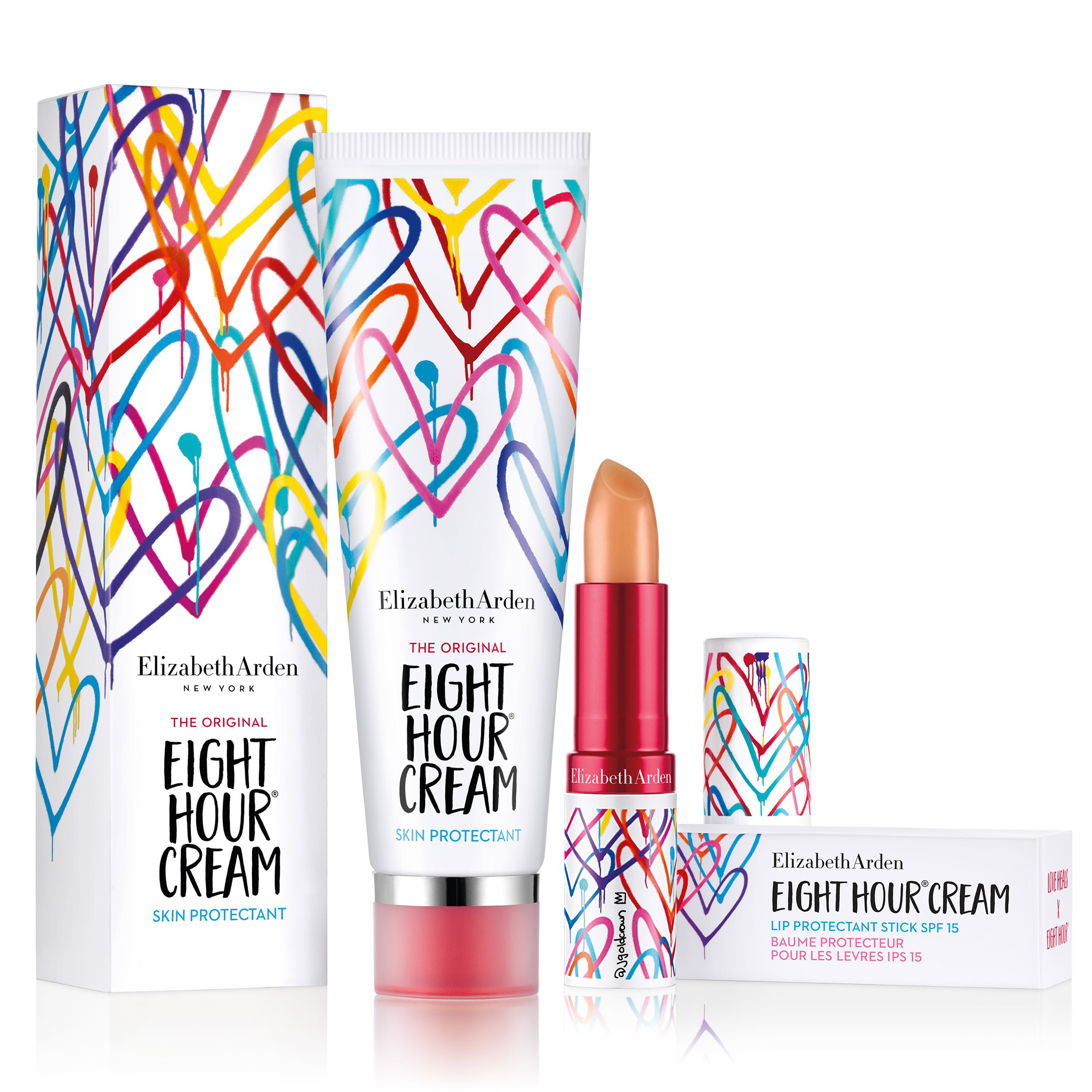 LOVE HEALS X EIGHT HOUR® Limited Edition Protectant Lipstick Balm SPF 15, , large